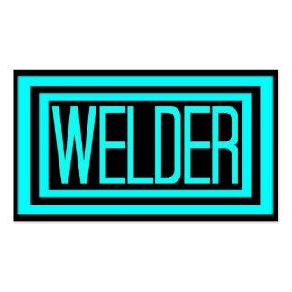 Welder Black and Teal Matted Frame Pack Of Standard Business Cards
