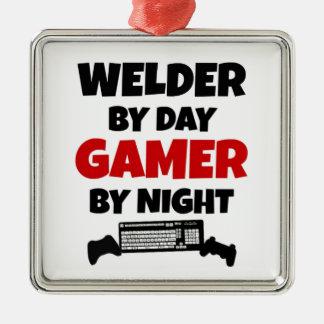Welder by Day Gamer by Night Metal Ornament