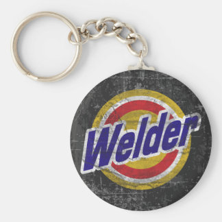 Welder Basic Round Button Key Ring