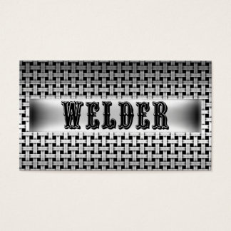 Welder Metal Look Business Card