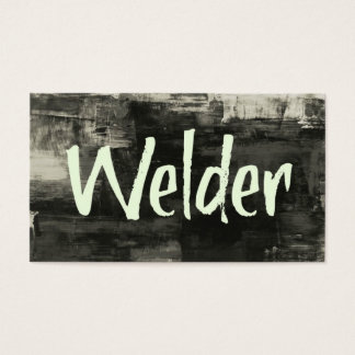 Welder Rustic Business Card