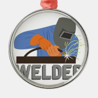 Welder Silver-Colored Round Decoration