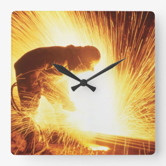 Welder Square Wall Clock