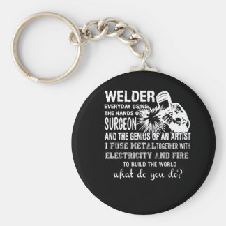 Welder Using Hands Surgeon Genius Artist Key Ring