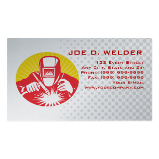welder welding at work business card pack of standard business cards