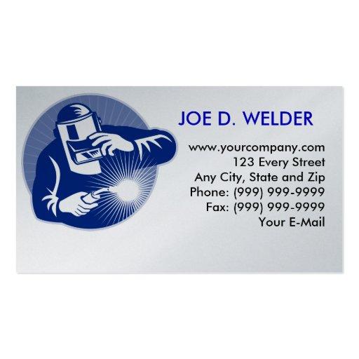 welder welding business card