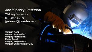 welder welding business card welding torch sparks - Welding Business Cards