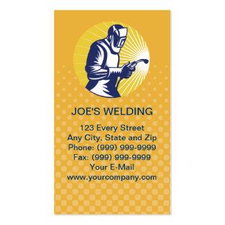 welder welding  worker business card pack of standard business cards
