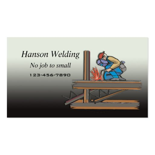 Welding business card zazzle for Welding business card ideas