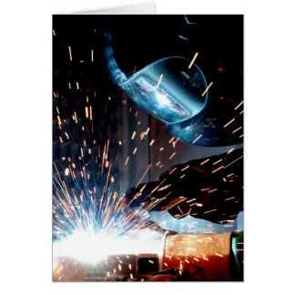 Welding Sparks Card