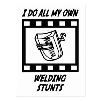 Welding Stunts Postcard