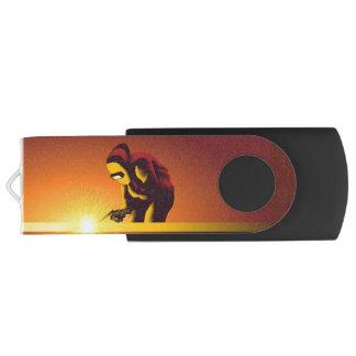 Welding Worker Swivel USB 2.0 Flash Drive