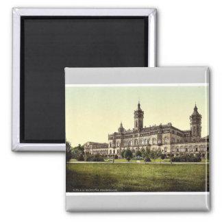 Welfenschloss, Hanover, Hanover, Germany rare Phot Square Magnet