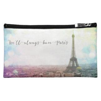 We'll Always Have Paris Zippered Bag Makeup Bag
