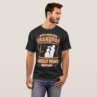 Well Behaved Grandpas Make History Hairdressing T-Shirt