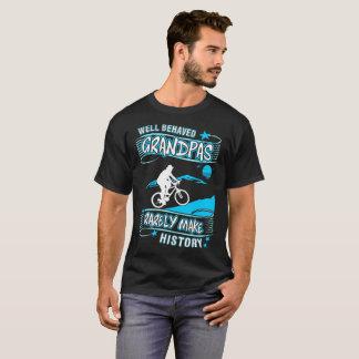 Well Behaved Grandpas Make History Mountain Biking T-Shirt