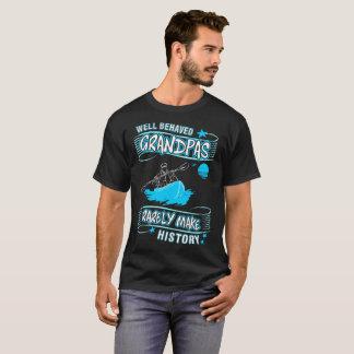 Well Behaved Grandpas Make History River Rafting T-Shirt