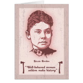 Well Behaved Lizzie Greeting Card
