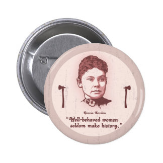 Well Behaved Lizzie Pinback Buttons