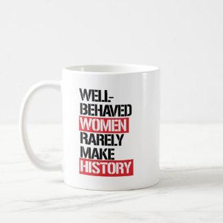 Well-Behaved Women Rarely Make History --  Coffee Mug