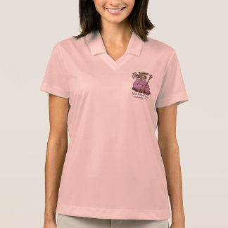 Well behaved women rarely make history, pink polo shirt