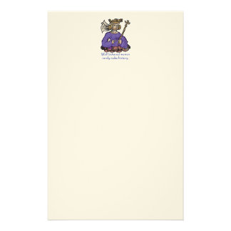 Well behaved women rarely make history custom stationery