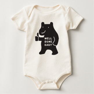 Well Done Baby Classic Bear Organic Bodysuit