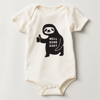 Well Done Baby Classic Sloth Organic Bodysuit