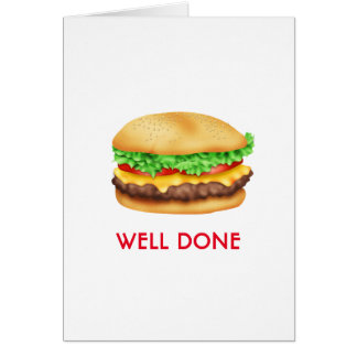 Well Done Burger Congratulations Graduate Card