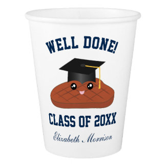 Well Done Class of 2017 Graduation Party Decor Paper Cup