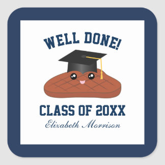 Well Done Class of 2017 Graduation Party Favors Square Sticker