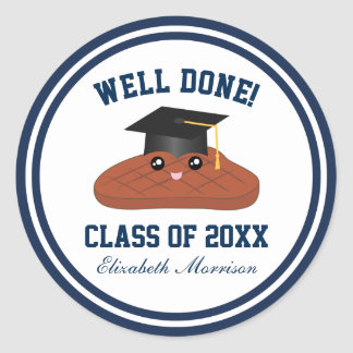 Well Done Class of 2018 Graduation Party Favors Classic Round Sticker