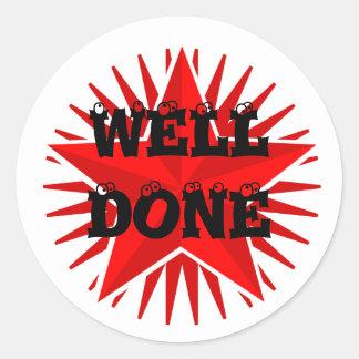 Well Done Star Sticker