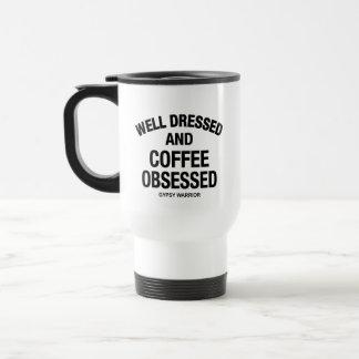 well dressed and coffee travel mug