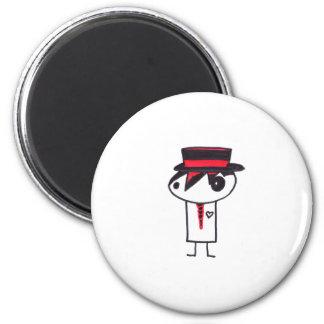 Well Dressed Emo 6 Cm Round Magnet
