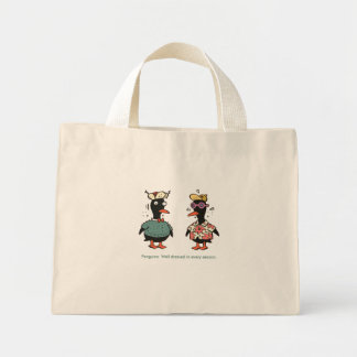 Well dressed penguins tote bags