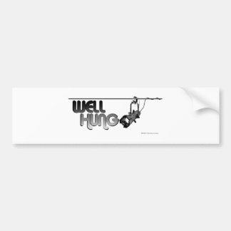 Well Hung (Ellipsoidal) Bumper Sticker