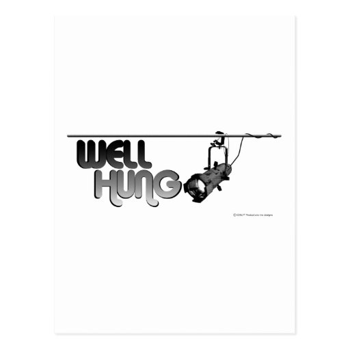 Well Hung (Ellipsoidal) Postcards