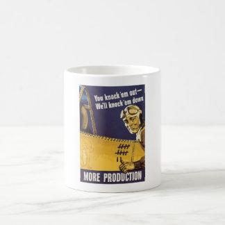We'll knock 'em down - WW2 Propaganda Coffee Mug