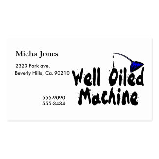 Well Oiled Machine Oil Can Pack Of Standard Business Cards