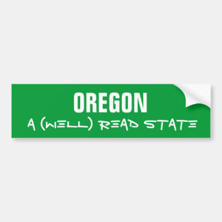 (Well) Read State Bumper Sticker