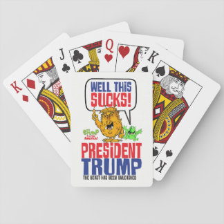 well this sucks playing cards