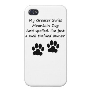 Well Trained Greater Swiss Mountain Dog Owner iPhone 4/4S Covers