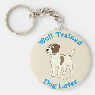 Well Trained (Jack Russell Terrier) Key Ring