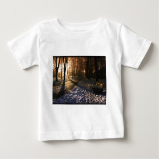 Well Traveled Snow Covered Path Baby T-Shirt