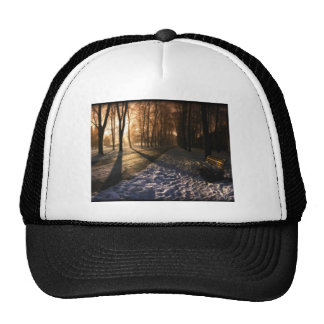 Well Traveled Snow Covered Path Cap