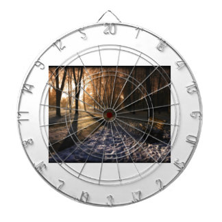 Well Traveled Snow Covered Path Dartboards