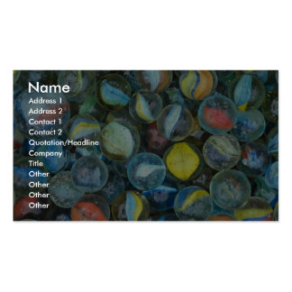Well-used marbles business card templates