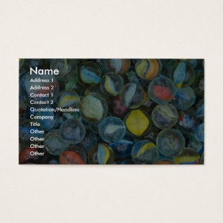 Well-used marbles business card
