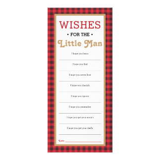 Well Wishes Card, Baby Shower, Little Man Personalized Rack Card